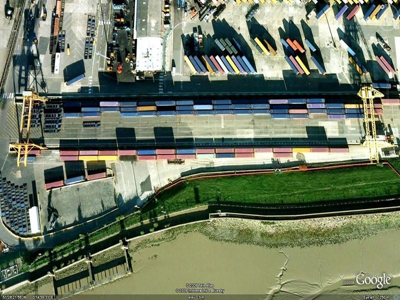 Container Port (Crane Detection Scheme- Aerial View)