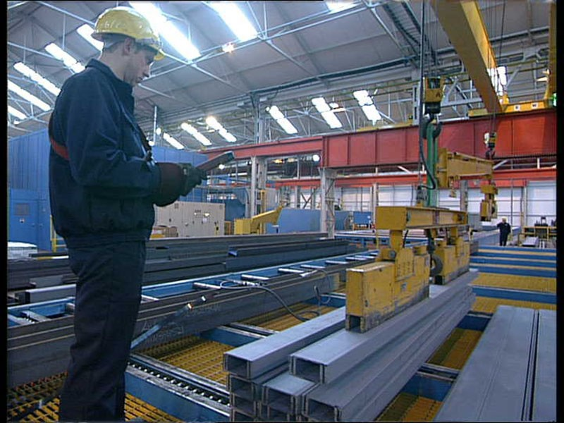 Steel Distribution Warehouse (Remote Crane Control)