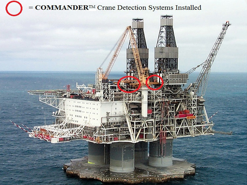 Hibernia Oil/Gas Exploration Rig (Crane Detection Scheme)