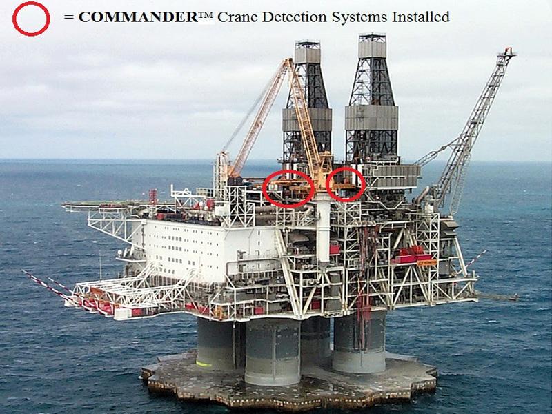 Hibernia Oil/Gas Exploration Rig (Crane Detection Scheme)