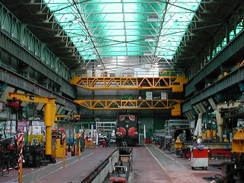 Locomotive Repair Workshops (TruTandemTM Remote Crane Control, Inverter Drives & Crane Detection)