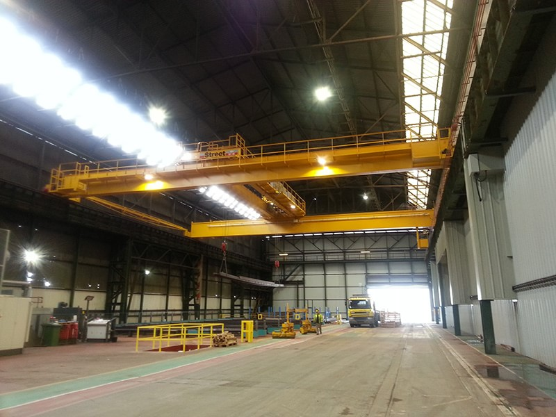 Steel Distribution Warehouse  (XBData & Remote Crane Control)