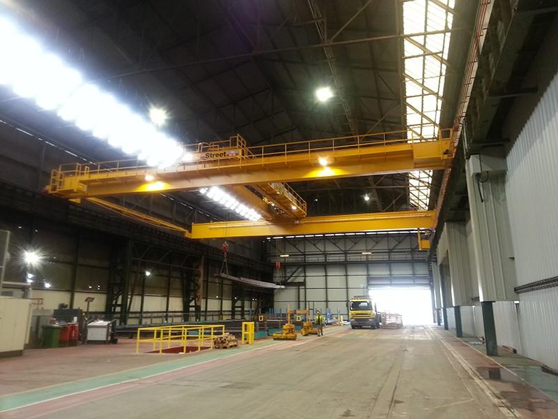 Steel Distribution Warehouse  (XBData & Remote Crane Control)