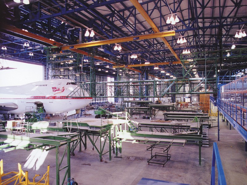 Aircraft Maintenance Hanger (Remote Control of Access Platforms)